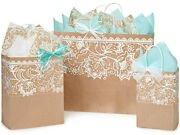 Lace Borders Design Party Gift Paper Bag Only Choose Size And Pack Amount