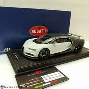 Bugatti Chiron Sport With Open Wing Grey Carbon Mr Collection 1/18 Bug07c