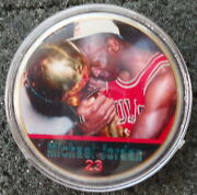 Michael Jordan 1 Oz 24 Kt .gold Plated Collectible Coin  1