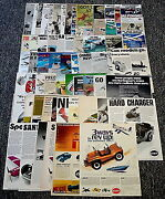 Cox Model Plane+slot Car Ad Collection Lot Of 65 Ads Jim Hall, F-1 Trainer...