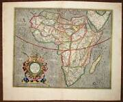 Map Old Original From Continent African Per Mercator 1610 Antic Old Map