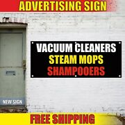 Vacuum Cleaners Banner Advertising Vinyl Sign Flag Steam Mops Shampooers Sales