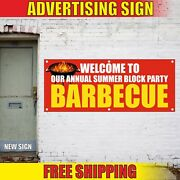 Party Barbecue Banner Advertising Vinyl Sign Flag Bbq Welcome Hot Summer Block