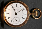 Lady Of Lyons Pocket Watch 6 Size 14k Hunting - Not Working