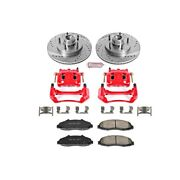 Kc1865 Powerstop 2-wheel Set Brake Disc And Caliper Kits Front For F150 Truck
