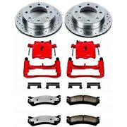 Kc1524-36 Powerstop 2-wheel Set Brake Disc And Caliper Kits Front For Chevy