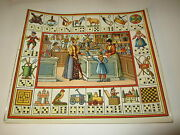 Old C.1890 Antique - French Game Print - Toy Shop - Game Of Trades