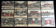 Lot Of 13 Vintage Picture Post Cards Of Nara Japan Hand Colored Very Rare