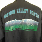 Vintage Butwin Baseball Jacket Blue Montana Power Menand039s Xl Hipster Quilted