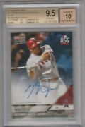 2018 Topps Now All Star Game Autographs As9 Blue Mike Trout Bgs 9.5 15/49