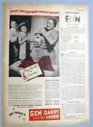Original 1946 Gem Dandy Electric Churn Ad 8x11 Ends Weary Hours Drudgery