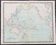 1834 Henry Teesdale Antique Map The Pacific Australia New Zealand Nth America