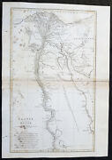 1765 J B D Anville Large Original Antique Map Of Egypt And The River Nile