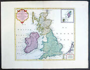 1750 Isaac Tirion Large Antique Map Of Great Britain And Ireland