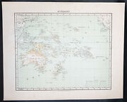1854 Handtke And Flemming Antique Map Of Australia, New Zealand, Pacific 32163