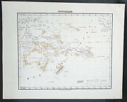 1854 Handtke And Flemming Antique Map Of Australia, New Zealand, Pacific 31975