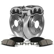 Kcoe1892 Powerstop 4-wheel Set Brake Disc And Caliper Kits Front And Rear For Ford