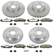 K1418-26 Powerstop 4-wheel Set Brake Disc And Pad Kits Front And Rear New For Xlr