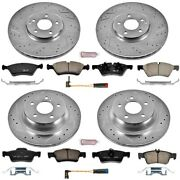 K6358 Powerstop 4-wheel Set Brake Disc And Pad Kits Front And Rear New For E Class