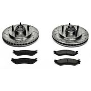 K1916 Powerstop 2-wheel Set Brake Disc And Pad Kits Front New For F150 Truck