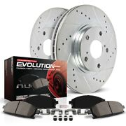 K1714 Powerstop Brake Disc And Pad Kits 2-wheel Set Front New For Chrysler 300