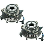 Set-tmsp450300 Timken Set Of 2 Wheel Hubs Front Driver And Passenger Side New Pair