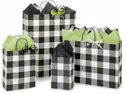 Buffalo Alley Plaid Design Party Gift Bag Only Choose Size And Package Amount