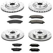 K2875 Powerstop Brake Disc And Pad Kits 4-wheel Set Front And Rear New For Cts Sts