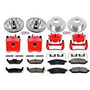 Kc1940a Powerstop Brake Disc And Caliper Kits 4-wheel Set Front And Rear For F-150