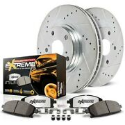 K15154dk-36 Powerstop 4-wheel Set Brake Disc And Drum Kits Front And Rear New