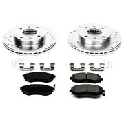 K656 Powerstop Brake Disc And Pad Kits 2-wheel Set Front New For 240 Sentra G20
