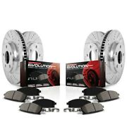 K6804 Powerstop 4-wheel Set Brake Disc And Pad Kits Front And Rear New For Mkt