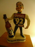 Oertels And03992 Beer Statue 1950and039s With Bottle Louisville Ky