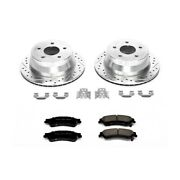 K2003 Powerstop 2-wheel Set Brake Disc And Pad Kits Rear New For Chevy Olds