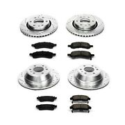 K2085 Powerstop 4-wheel Set Brake Disc And Pad Kits Front And Rear New For Chevy