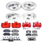 Kc2848a Powerstop Brake Disc And Caliper Kits 4-wheel Set Front And Rear New