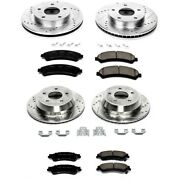 K2006 Powerstop 4-wheel Set Brake Disc And Pad Kits Front And Rear New For Chevy