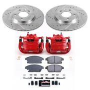 Kc5554 Powerstop 2-wheel Set Brake Disc And Caliper Kits Front New For Chevy