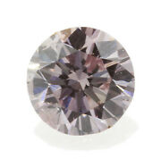 0.08 Carat Fancy Intense Pink Loose Diamond Natural Color Certified Round Shape