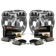 Kcoe2387 Powerstop Brake Disc And Caliper Kits 4-wheel Set Front And Rear For Rsx