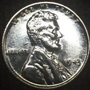 1943 Steel Penny Almost Uncirculated Looks And Runs Like It Was Just Made.