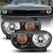 121526 Anzo Headlight Lamp Driver And Passenger Side New Lh Rh For Challenger