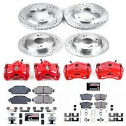 Kc2773 Powerstop 4-wheel Set Brake Disc And Caliper Kits Front And Rear New Coupe