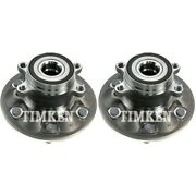 Set-tmha590304 Timken Set Of 2 Wheel Hubs Front Driver And Passenger Side New Pair
