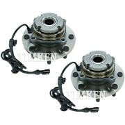 Set-tmha590425 Timken Wheel Hubs Set Of 2 Front Driver And Passenger Side New Pair