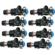 Set-ac17113698 Ac Delco Set Of 8 Fuel Injectors Gas New For Chevy Avalanche