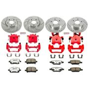 Kc1612a-26 Powerstop Brake Disc And Caliper Kits 4-wheel Set Front And Rear For G6