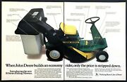 1984 John Deere R70 Riding Mower Photo You Can Afford The Best 2-page Print Ad