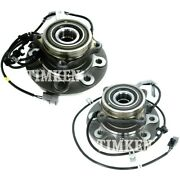 Set-tmsp580101-f Timken Wheel Hubs Set Of 2 Front Driver And Passenger Side Pair