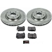 Tdsk4488 Powerstop Brake Disc And Pad Kits 4-wheel Set Front And Rear New For G35
